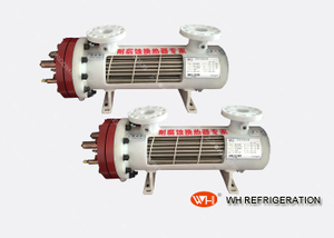ISO Certification Titanium Spiral Heat Exchanger Bare Tube Evaporators for 160 Kw Water Chiller