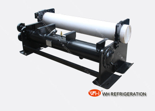 U Tube Type Flooded Heat Exchanger , Horizontal Shell And Tube Condenser Customized
