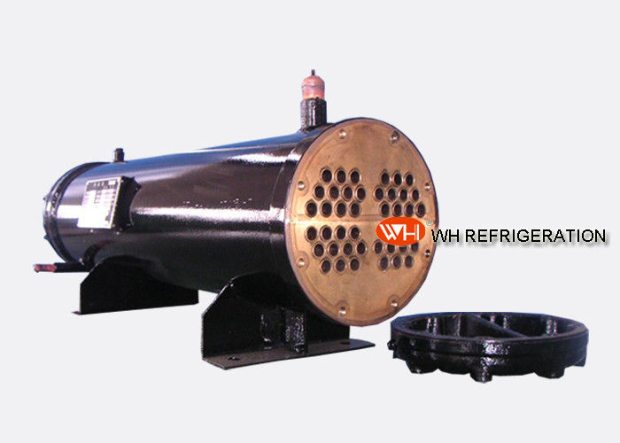 122KW Industrial Shell And Tube Water Cooled Condenser , Refrigerator Condenser Tube