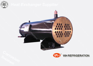 Refrigerator Copper Tube Condensers Horizontal Sea Water Cooled Condenser