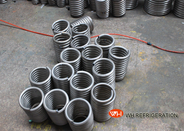 Coiling For Heat Exchange / Air Conditioner Evaporator Coil Location Coiled Stainless Steel Tube