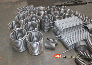 Titanium Immersed Coil Type Heat Exchanger , Tube Coil Heat Exchanger CE ISO9001
