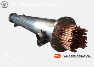 Titanium Twisted Tube Heat Exchanger , Marine Refrigeration Condensing Unit