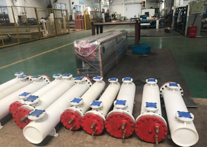 Freon Flexible Water Titanium Evaporator, PVC Tube in Shell Titanium Heat Exchanger, Plastics Shell Tube Heat Exchanger