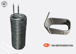 China Titanium Spiral Heat Exchanger Evaporator Coil Refrigeration Parts 12.7 Mm Tube Coil