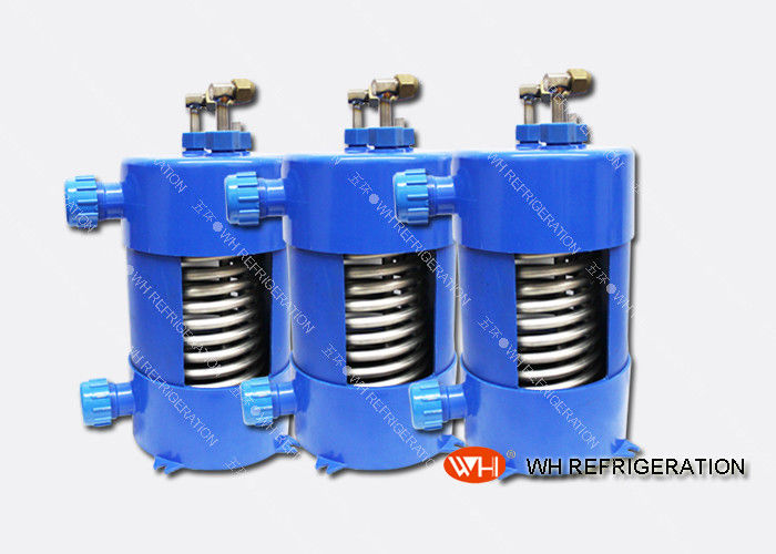 Titanium Heat Exchanger For Salt Water Aquarium Chiller With Corrugated Tube