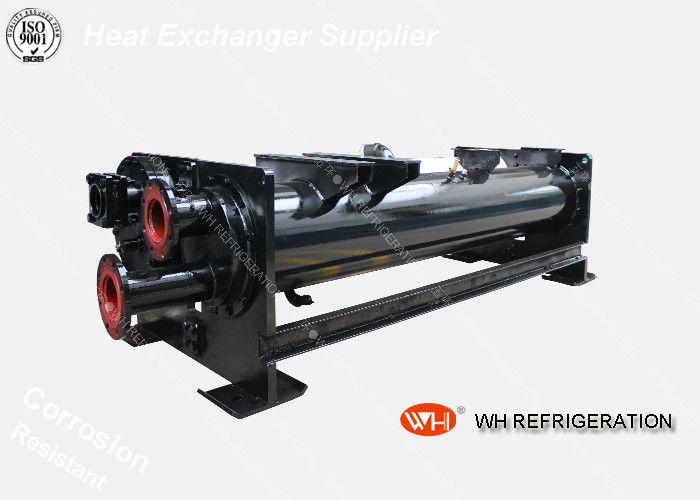 Shell Tube Marine Oil Cooler Heat Exchanger High Heat Transfer Single Effect