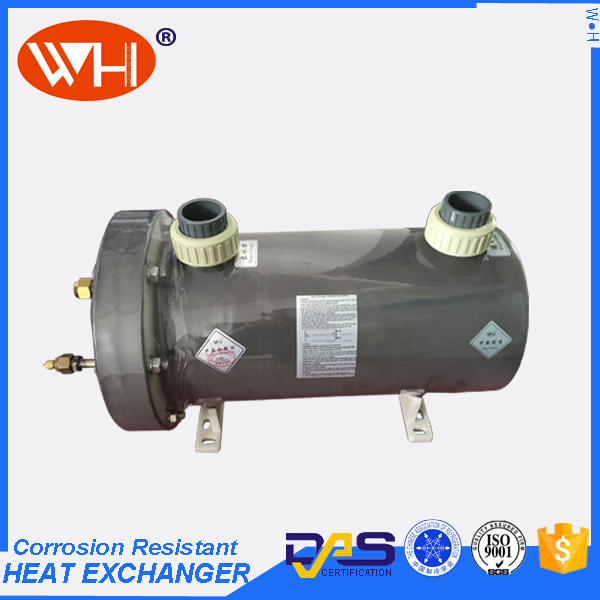 Shell & Tube Swimming Pool Heat Exchanger Horizontal Type Titanium Heat Exchanger Equipment